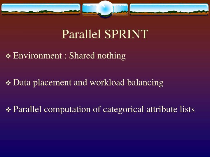 Parallel SPRINT