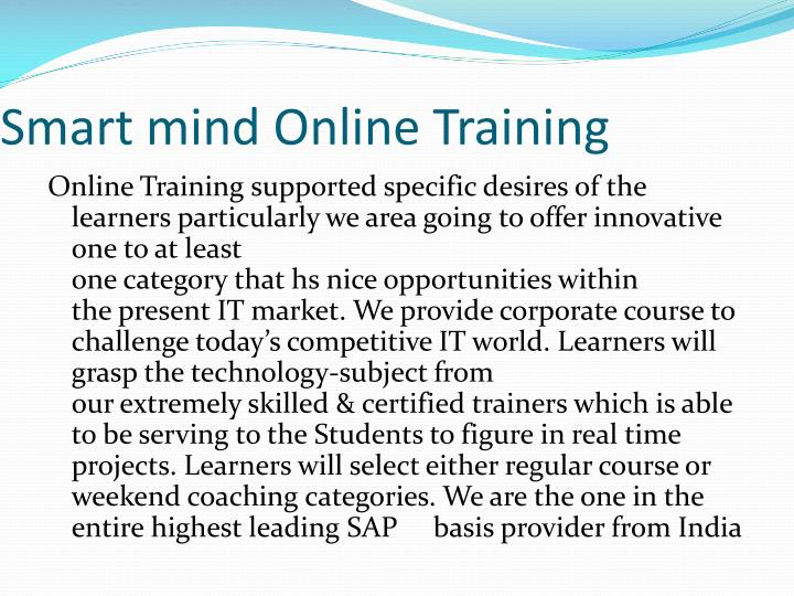 Smart mind Online Training
