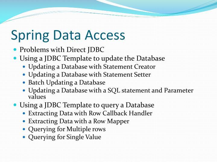 Spring Data Access