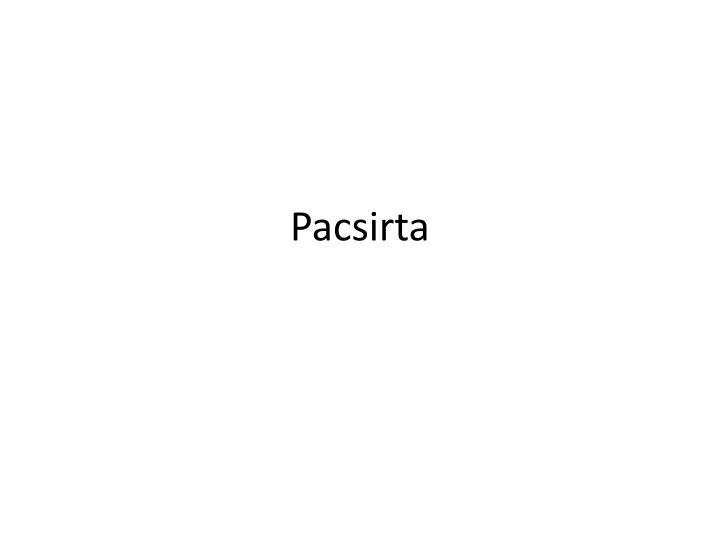 Pacsirta