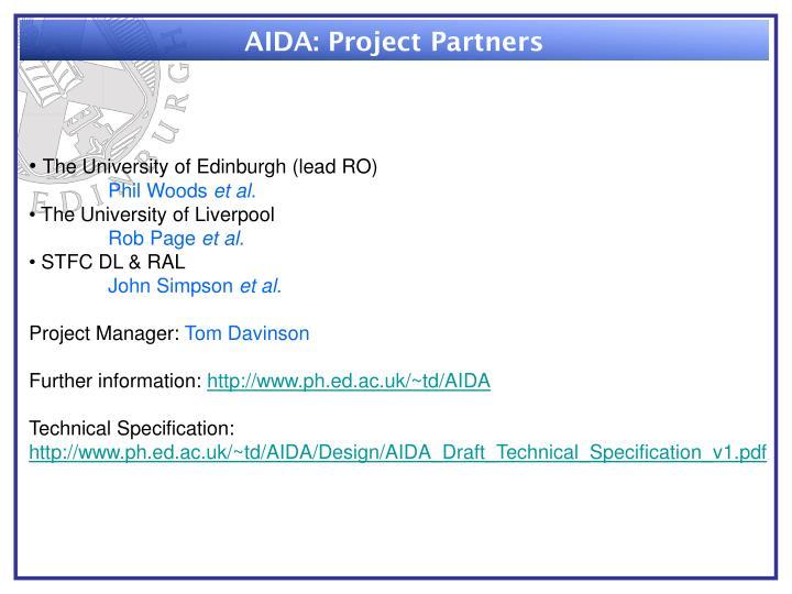 AIDA: Project Partners