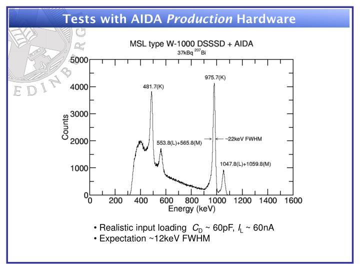 Tests with AIDA