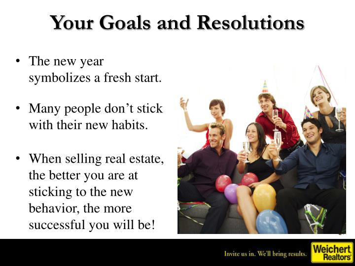 Your Goals and Resolutions