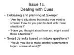 issue 1c dealing with cues
