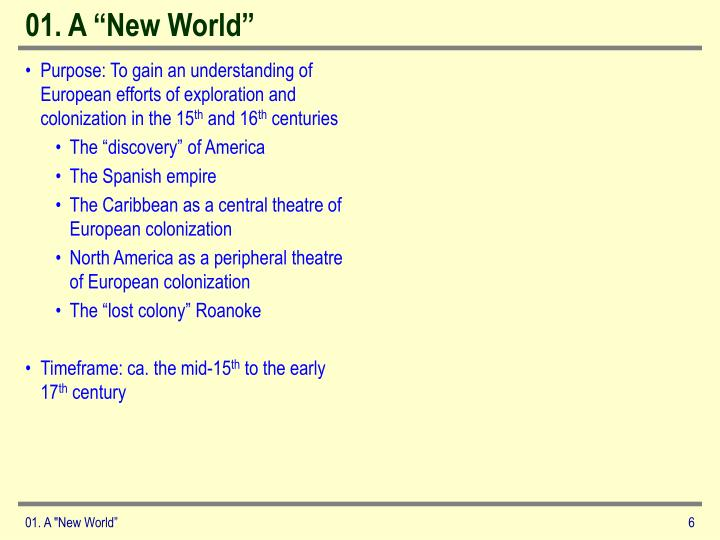 "01. A ""New World"""
