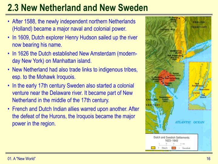 2.3 New Netherland and New Sweden