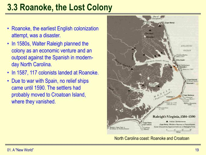 3.3 Roanoke, the Lost Colony