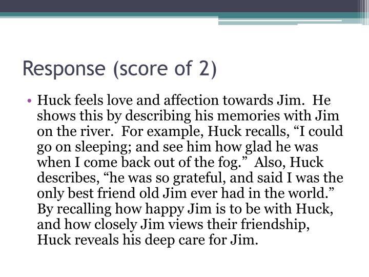 Response (score of 2)