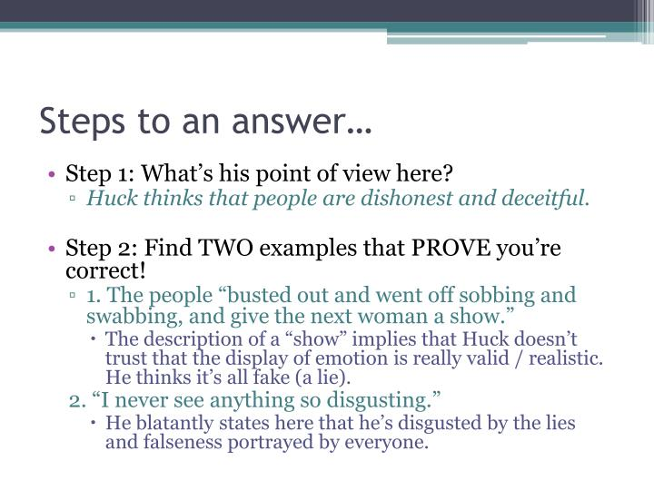 Steps to an answer…