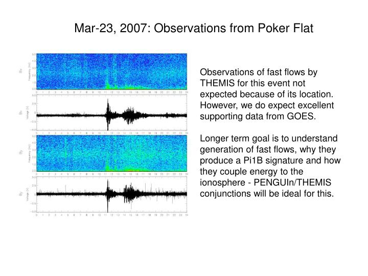 Mar-23, 2007: Observations from Poker Flat