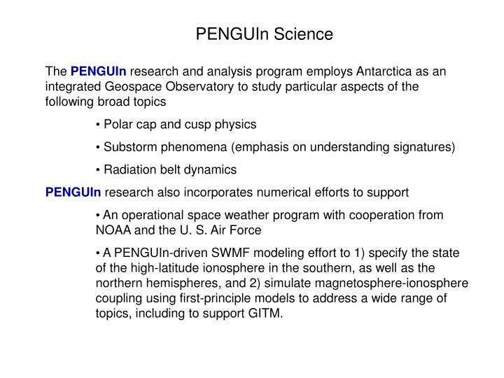 PENGUIn Science