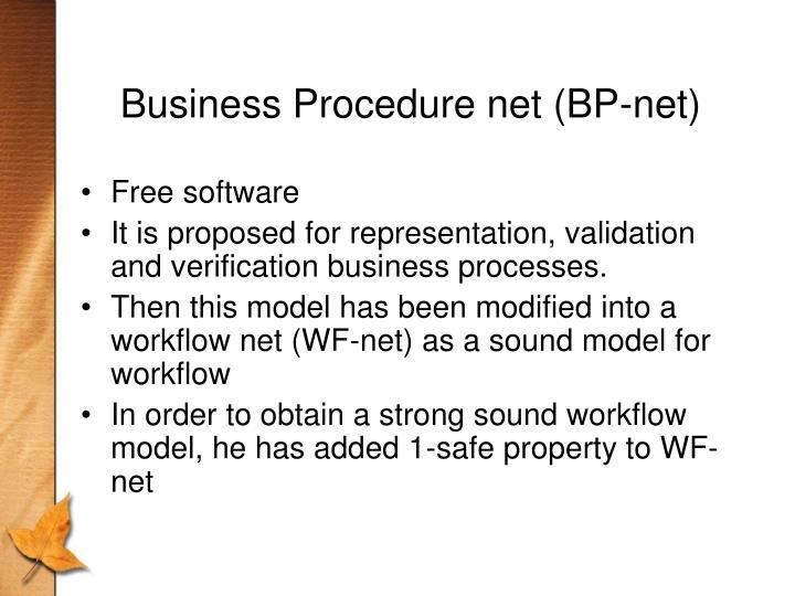 Business Procedure net (BP-net)