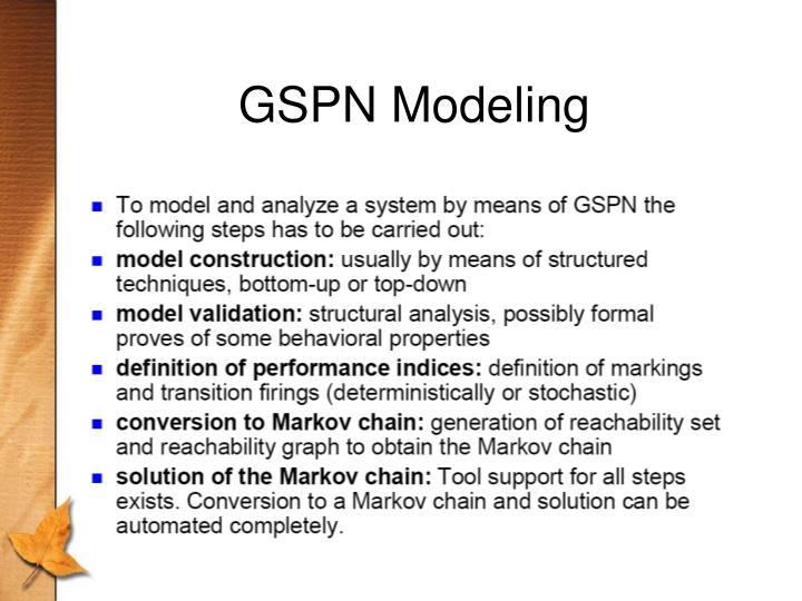 GSPN Modeling