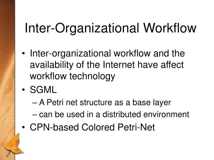Inter-Organizational Workflow