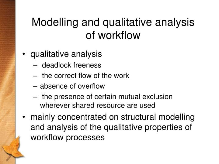 Modelling and qualitative analysis