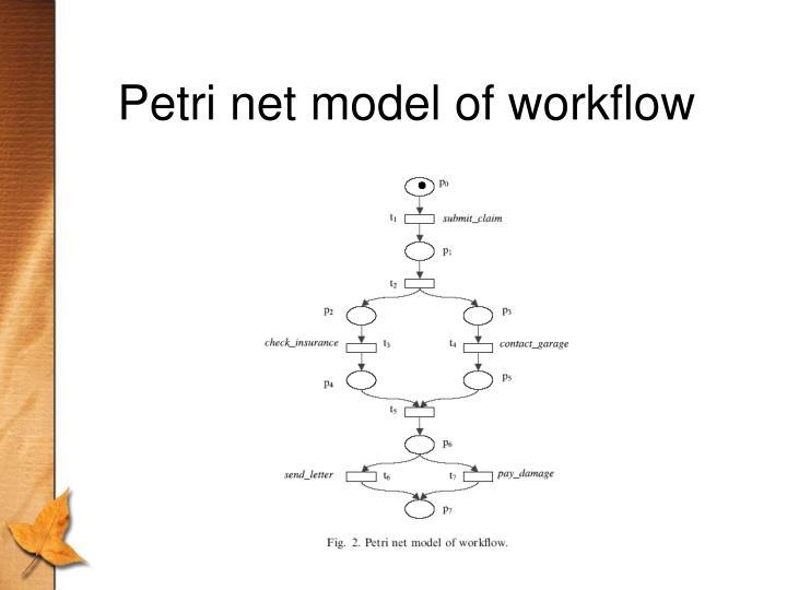 Petri net model of workflow