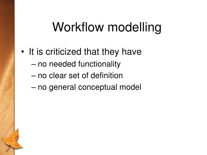 Workflow modelling