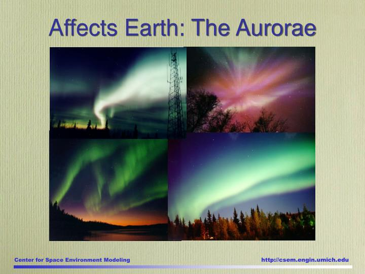 Affects Earth: The Aurorae
