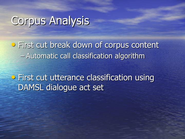 Corpus Analysis