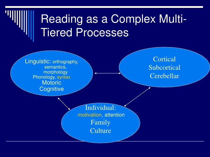 Reading as a Complex Multi-Tiered Processes