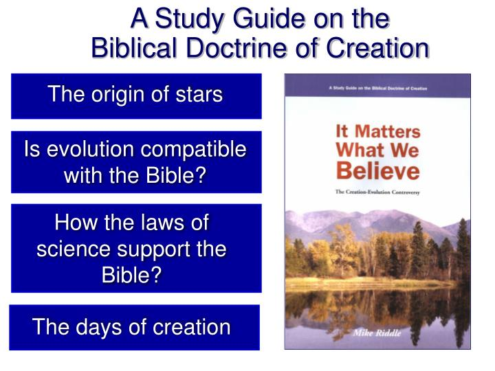 A Study Guide on the Biblical Doctrine of Creation