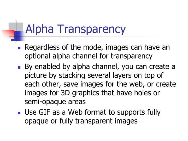 Alpha Transparency