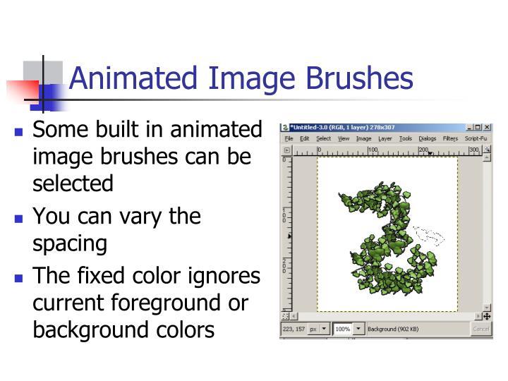 Animated Image Brushes