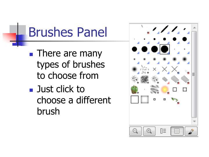 Brushes Panel