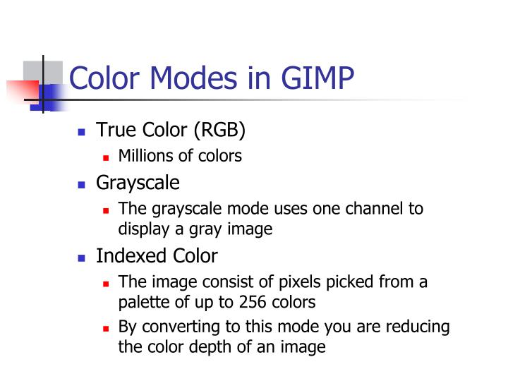 Color Modes in GIMP
