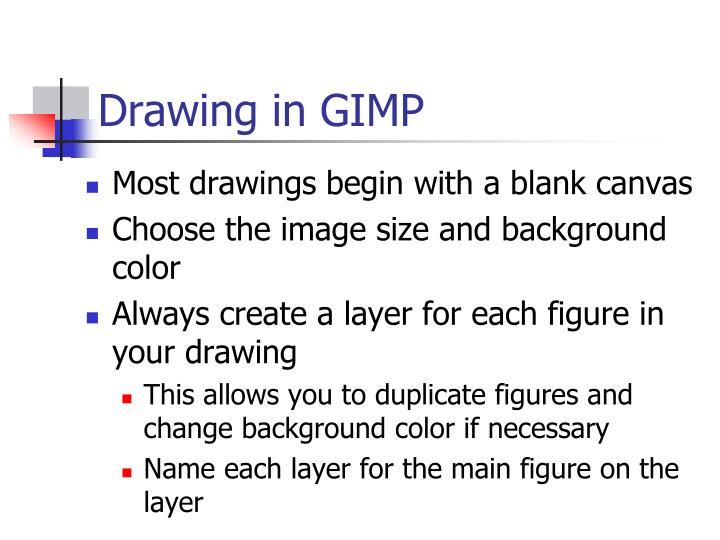 Drawing in GIMP