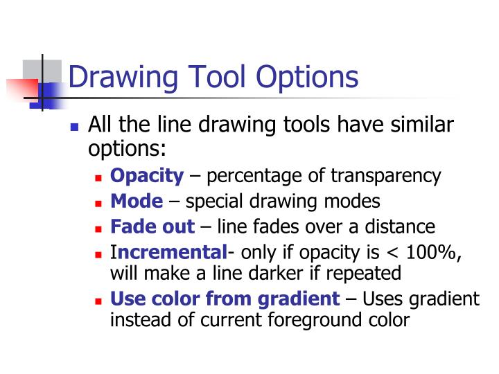 Drawing Tool Options