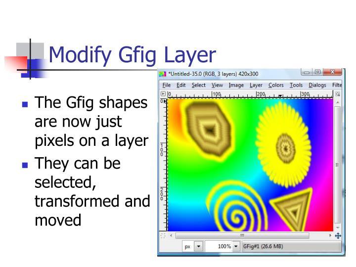 Modify Gfig Layer