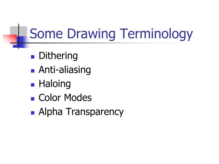 Some drawing terminology