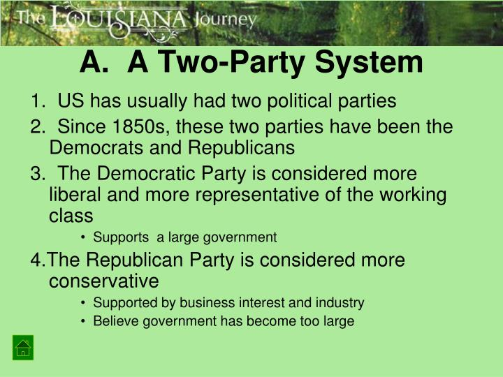 A.  A Two-Party System