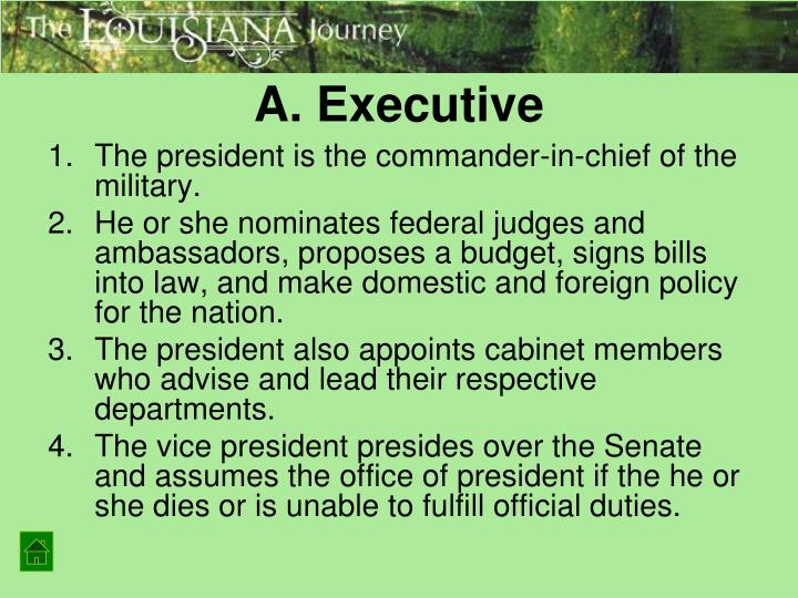 A. Executive