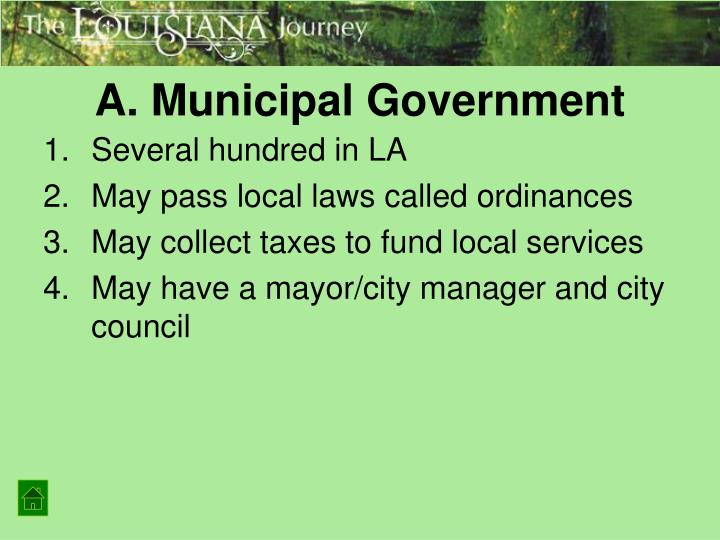 A. Municipal Government