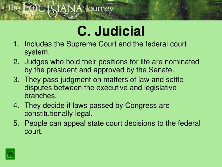 C. Judicial