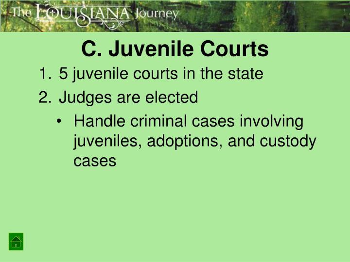 C. Juvenile Courts