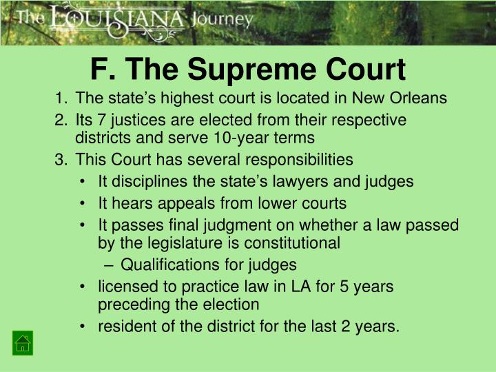 F. The Supreme Court