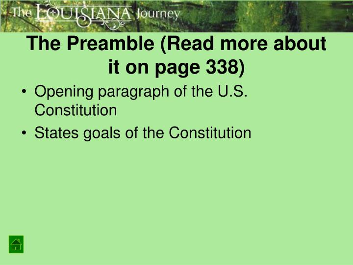 The Preamble (Read more about it on page 338)
