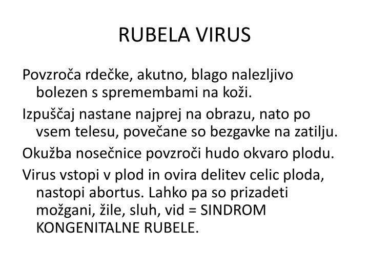 RUBELA VIRUS