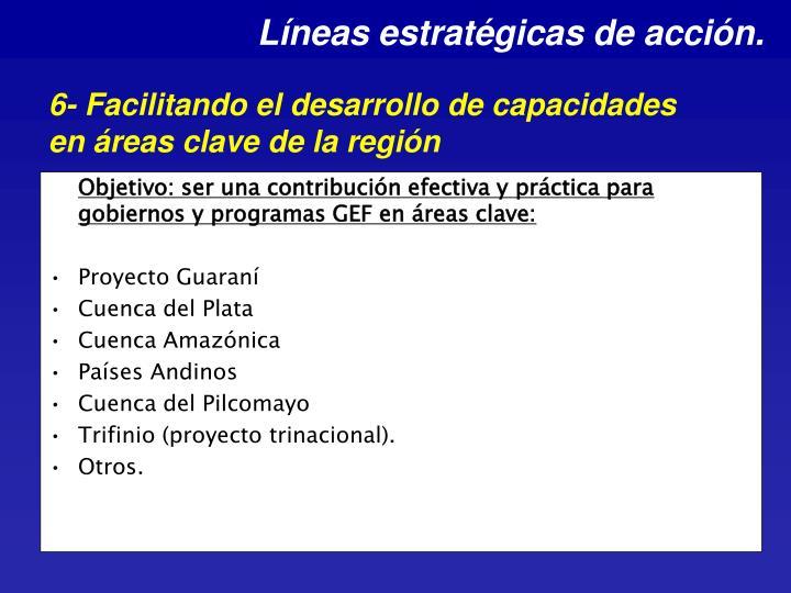 Líneas estratégicas de acción.