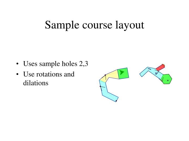 Sample course layout