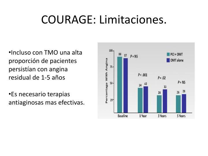 COURAGE: Limitaciones.