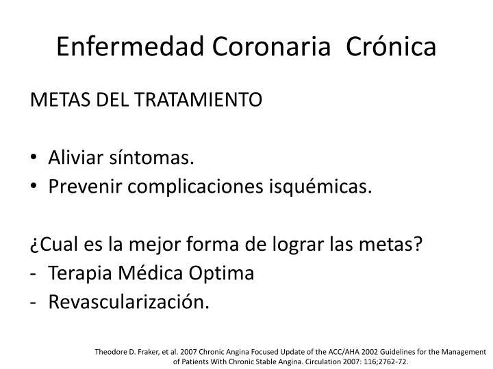 Enfermedad Coronaria  Crónica