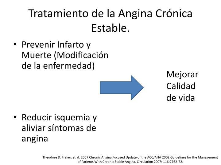 Tratamiento de la Angina Crónica Estable.