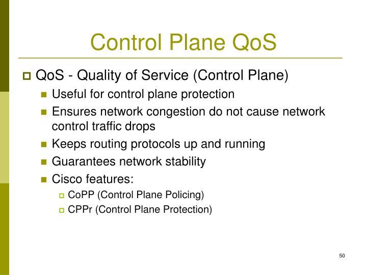 Control Plane QoS