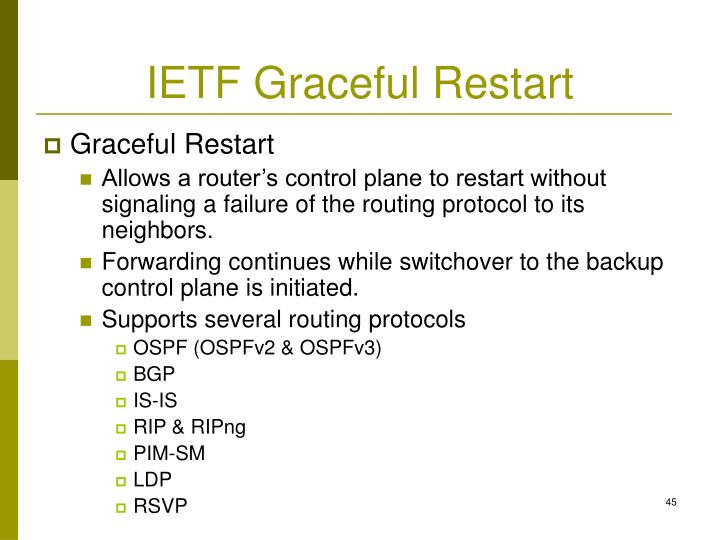 IETF Graceful Restart
