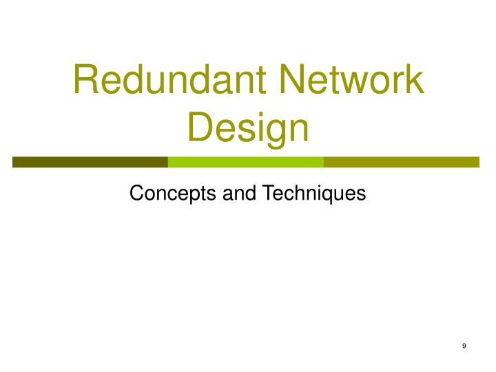 Redundant Network Design