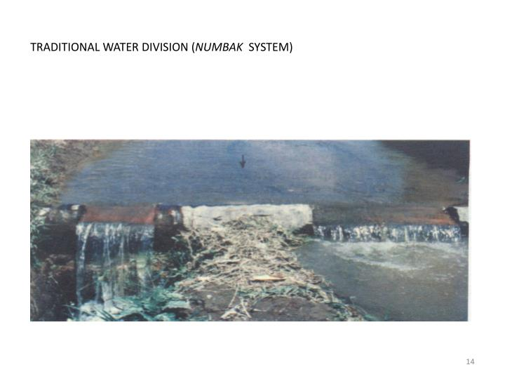 TRADITIONAL WATER DIVISION (